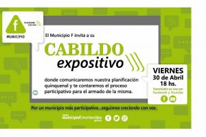 Cabildo Municipio F 2021   Viernes 30 de abril - 18hs.