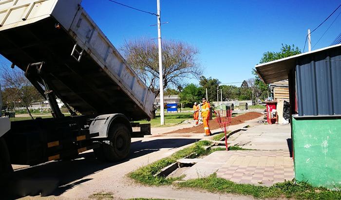 Se acondicionó la caminería en Alba Roballo.