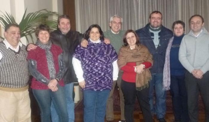 Ana Olivera con los 8 Alcaldes Primera Foto