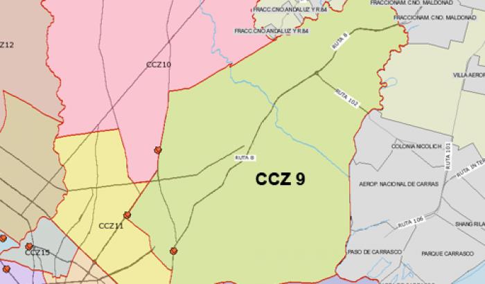 Mapa CCZ 9