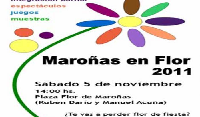 """Afiche """"Maroñas en Flor"""""""