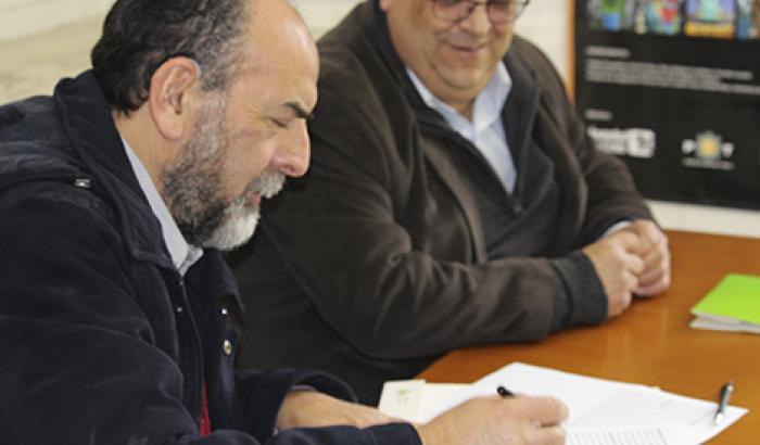 Alcalde Francisco Fleitas junto con Hugo Ramón Píriz