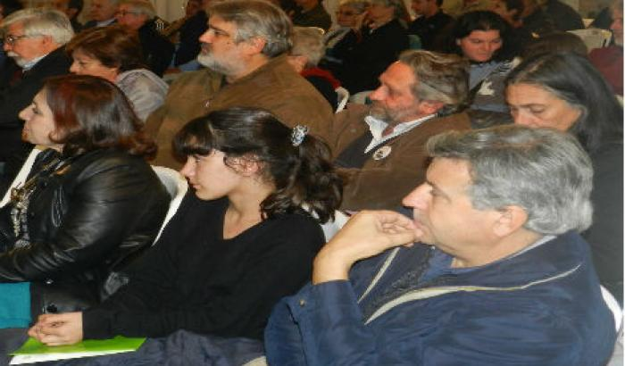 Intendenta Ana Olivera y ministros Beltrame y Bonomi.