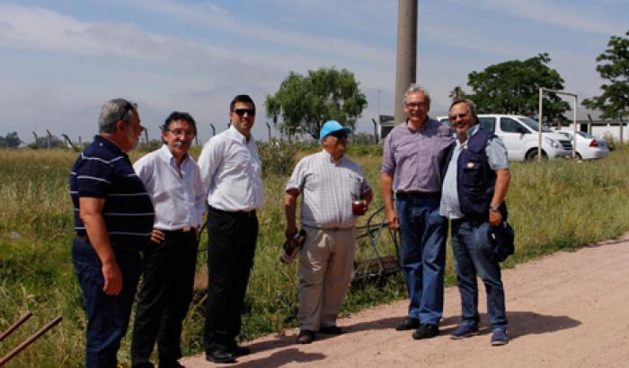 Alcalde Francisco Fleitas, Julio Pintos (Director de CoTRyBA), Carlos Artigas y Marcos Pressa (concejales vecinales)