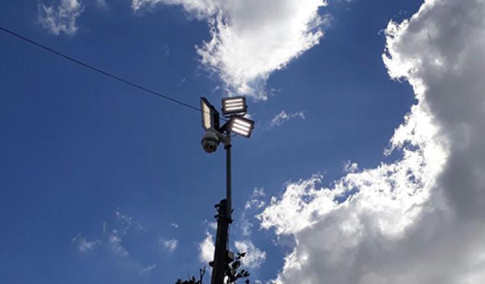 luminarias led en la plaza junto a la Casa del Vecino – Centro Cultural Barrio Z